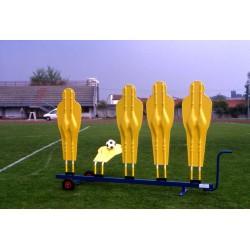 Carrello porta sagome barriera calcio