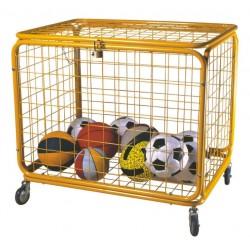 Carrello contenitore porta palloni smontabile cm 100x75x90 con ruote e lucchetto