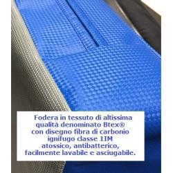 Fodera materasso da ginnastica cm 200x400x40  taglio 45°