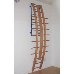 Scala curva in legno
