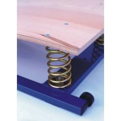 Pedana elastica con doppia molla in acciaio