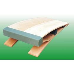 Pedana elastica a doppia articolazione in legno di faggio
