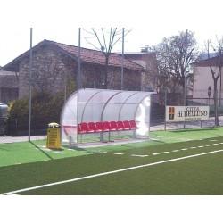 """Panchina calcio """" Standard"""" in alluminio copertura alveolare"""