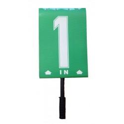 """Blocco numeri sostituzione giocatori con scritta """"IN"""""""
