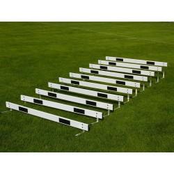 Set ostacolini over in alluminio con asticella. Composto da 10 pezzi
