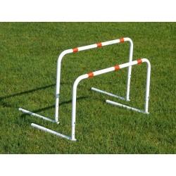 Ostacolo regolabile in acciaio verniciato altezza regolabile 30 - 40 - 50 cm.