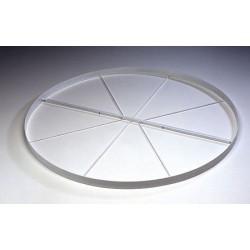 Pedana circolare per lancio del disco regolamentare