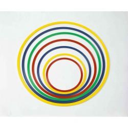 Cerchio ginnastica in nylon colorato sezione piatta DIAM 50 cm