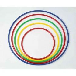 Cerchio ginnastica in pvc colorato norme F.I.G  sezione tubolare DIAM 70 cm