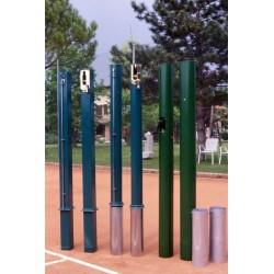 Pali tennis in alluminio sezione rotonda