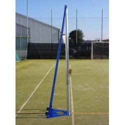 Impianto volley e tennis a traliccio in acciaio mobile
