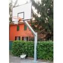 Imp. basket monotubo SINGOLO da esterno sbalzo cm 165