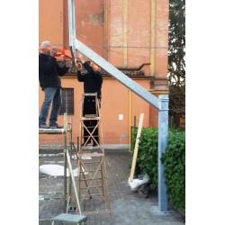 Impianto basket monotubo SINGOLO sbalzo cm 165 da esterno