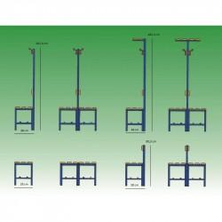 Panca mt.1 seduta schienale appendiabiti pvc