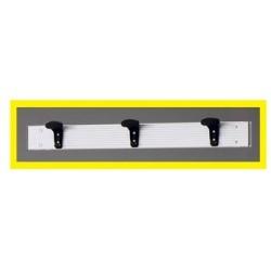 Appendiabiti a parete in alluminio mt. 1 con 3 grucce in pvc