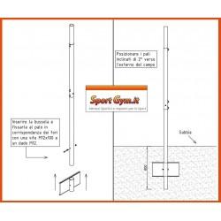 Impianto beach volley e beach tennis in acciaio zincato