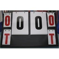 Segnapunti da tavolo con numerazione bifacciale