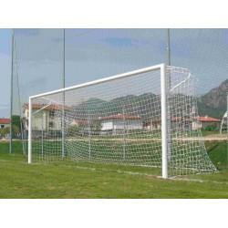 Porte da calcio regolamentari fisse con reggirete a gomito