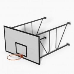 Impianto Minibasket COMPLETO a parete sbalzo cm 160