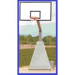 Impianto basket SINGOLO trasportabile DA ESTERNO