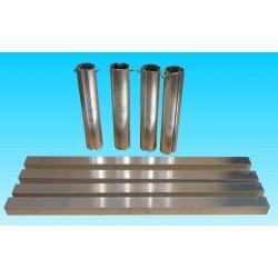 Kit per porte da calcio alluminio per trasformazione da trasportabile a fissa