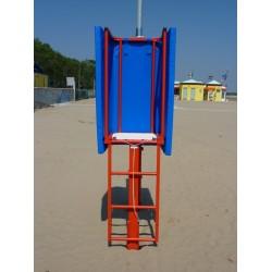 Seggiolone palchetto arbitro beach volley monopalo