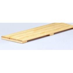 Pedana poggiapiedi mt. 1 a listoni di legno