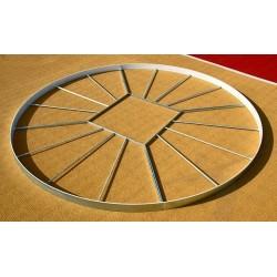 Cerchio pedana lancio del disco Polanik omologato IAAF