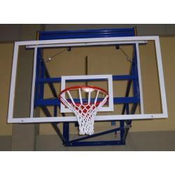 Tabellone basket regolamentare cm 180x105 in plexiglass con telaio