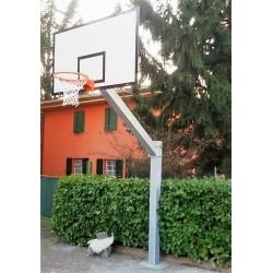 Impianto basket monotubo sbalzo cm 165 da esterno