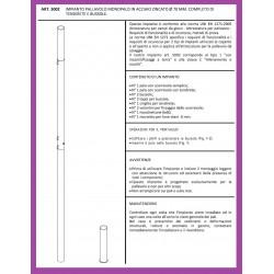 Impianto pallavolo in acciaio monotubo diam. mm 70