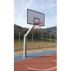Imp. basket monotubo SINGOLO da esterno sbalzo cm 225