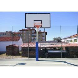 Impianto basket monotubo sbalzo cm 165 con piastra