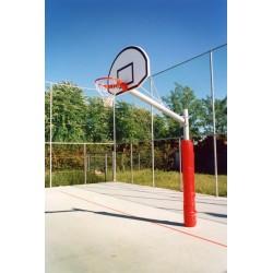 Impianto basket monotubo zincato caldo rotondo con tabelloni lamiera sbalzo 160