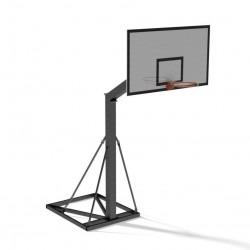 Impianto basket monotubo bloccaggio a terra da interno