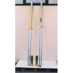 Impianto pallavolo monotubo in acciaio diam. mm 100