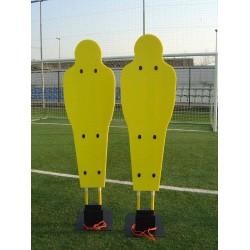 Sagoma snodata regolabile per barriera e slalom calcio