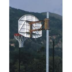 Impianto basket minibasket monotubo regolabile in altezza