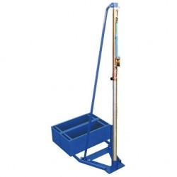Impianto pallavolo a traliccio trasportabile con portazavorra