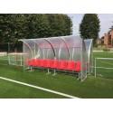 Panchina Calcio mt. 4 Standard acciaio + alveolare