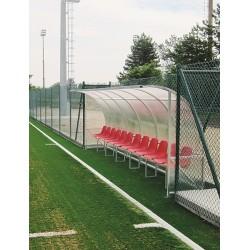 Panchina Calcio Alluminio a modulo copertura alveolare