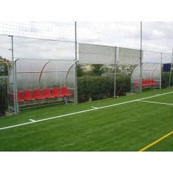 Panchina Calcio mt 4 Standard alluminio + alveolare