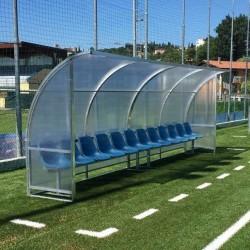 Panchina Calcio mt. 6 Standard acciaio + alveolare