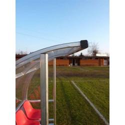 "Panchina calcio ""Strong"" alluminio copertura trasparente"