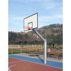 Impianto basket monotubo sbalzo cm 225 da esterno