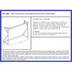 Porte da calcetto mt. 3x2 in acciaio  trasportabili