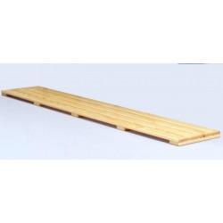 Pedana poggiapiedi mt. 2 a listoni di legno