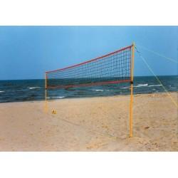 Impianto beach volley da spiaggia per il tempo libero con rete e picchetti.