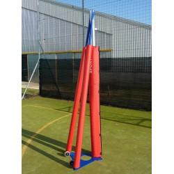 Protezione antinfortunistica impianto volley a traliccio